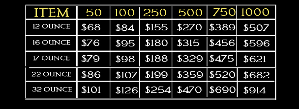 stadium cup pricing
