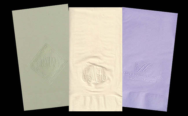 embossed guest towels