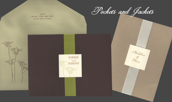 jacket and pocket invitations