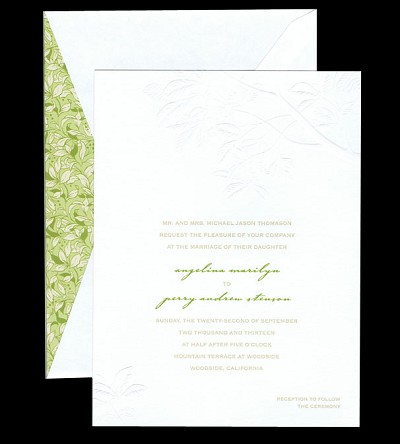 embossed branches card